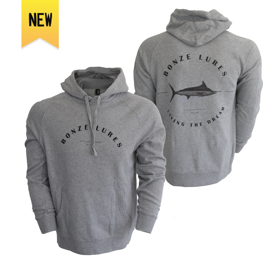 Living The Dream Hoodie - Grey Marle